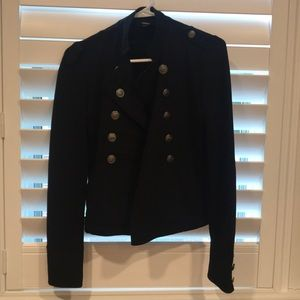 Black jacket with button details